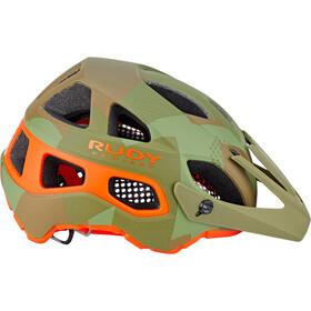 Rudy Project Protera Fietshelm, green camo/orange